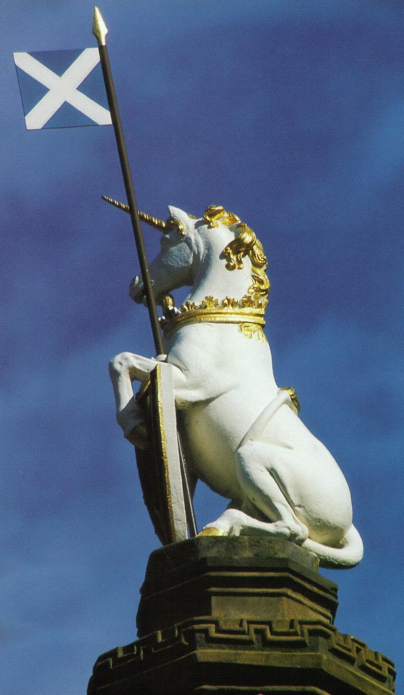 L'animale nazionale scozzese: l'unicorno