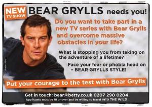 Bear Grylls cerca te!