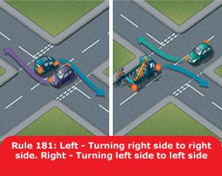 Girare a sinistra secondo gov.co.uk